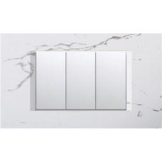 TEM Classic 3 Gang Switch Stone White-Soft Black-Elox Silver