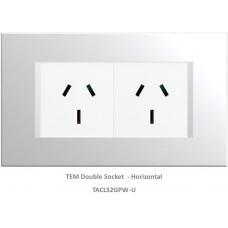 TAS Double  Socket Set-Polar White-Line