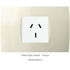 TAS Single Socket Set-Ivory White-Soft